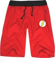 pantalones cortos al por mayor-Venta al por mayor- RIPBLINKLeague popular corto Jay Garrick Barry Allen Wally West Bart Allen medio corto El traje de superhéroes flash corto casual