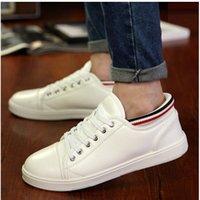 al por mayor hombres nuevos zapatos de la manera de las sandalias-Los nuevos zapatos de las sandalias de los zapatos ocasionales de los hombres de la primavera varan los zapatos blancos de los deportes del blanco de la edición del zapato de la edición de han de la caída