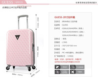 Wholesale women s fashion suitcase high capacity sipnner for travel or business trip essential household products