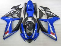 Wholesale 4 Free Gifts New ABS Motorcycle Fairings Kits Fit For SUZUKI GSXR600 GSXR750 K6 R600 R750 Bodywork set blue and black