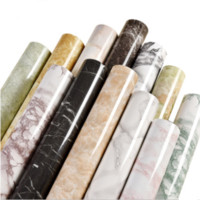Wholesale cmX5M Marble Self Adhesive Wallpaper Sheet Rolling paper for bathroom kitchen livingroom Wall art film wall cover home deco