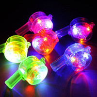 Noise Maker blink movie - 6 cm Colorful Led Flashing Luminous Whistle Blinking For Party Favors Bar Club Concert Decor ZA3720