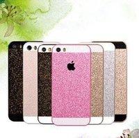 al por mayor iphone bling la rosa-2016 la PC caliente del color de rosa de la caja del teléfono móvil del brillo de Bling de Shinny PC protege el caso de la contraportada para el color blanco del oro negro del iPhone 5 5G 5s El envío libre