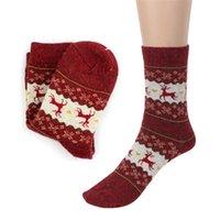 best wool socks - Best seller Women Christmas Deer Design Casual Knit Wool Socks Warm Winter Jun22