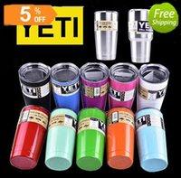 Wholesale Yeti oz oz Cars Beer Mug Large Capacity Mug TumblerfuRambler Tumbler Bilayer Insulation Cupsl