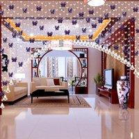 Wholesale Good Quality M Modern Crystal Glass Waterdrop Curtain Window Curtain Modern Living Room Curtain Wedding Decor