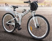 battery assist bike - Folding electric car mountain electric bike V lithium battery adult battery car power assisted bicycle