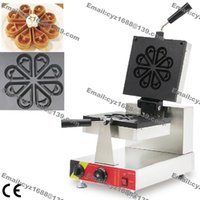 Wholesale Commercial Use Non stick v v Electric Ice Cream Rotating Blossom Waffle Machine Baker Maker Iron Mold Pan