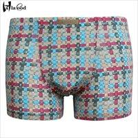 achat en gros de jeunes hommes sous-vêtements-Nouveau low-cost hommes de l'été sous-vêtements U convexe pantalon plat respirant ultra-mince jeune marée grande taille sous-vêtements boxeurs shorts