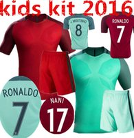 active kit - New Uniforms Kit Youth Kids Soccer Jersey European Cup Portugal Flgo Ronaldo Nanl Red Light Green Away Home Jerseys