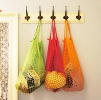 cotton fabric roll - 150pcs Multifuction Fruits Vegetable Foldable Shopping Bag String Cotton Mesh Pouch For Sundries Juice Storage Bags