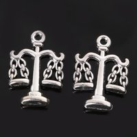antique balance scale - 60pcs x16mm antique silver plated Alloy Balance Scale charms Pendant Jewelry Findings