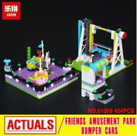 Aircraft amusement park bumper cars - Lepin Girl Series Bumper Cars Amusement Park Assembling Building Block Toy Compatible with