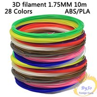 Wholesale 3D filament MM m avirulent and harmless Colors DIY PLA and Low temperature eMate printing material For D Drawing Printer Pen