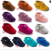Wholesale 47 Colors Baby moccasins soft sole PU leather first walker shoes DHL baby newborn shoes Tassels maccasions shoes