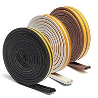 Wholesale 1pc m Self Adhesive D Type Doors and for Windows Foam Seal Strip Soundproofing Collision Avoidance Rubber Seal Collision