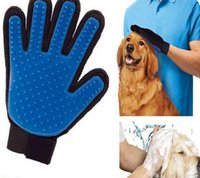 Wholesale New Arrival Pet GLove True Touch Cleaning Massage Removal Glove Bath Dog Cat Brush Comb Hair Cleaning Tools Dog Grooming DHL Free
