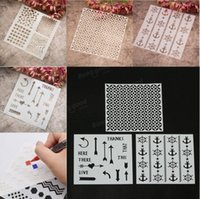 Wholesale Designs Stencils Template DIY Scrapbooking Paper Card Craft Painting Tool Interesting and creative let s play