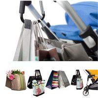 Wholesale Black Baby Products Piece Baby Car Carriage Stroller Hook Clips Accessory High Quality Aluminum Pram Hooks
