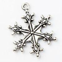 big fashion earrings - 22x28 mm Tibetan Silver Big Dots Snowflake Charms Pendants Fashion Jewelry DIY Fit Bracelets Necklace Earrings L737