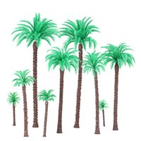 Wholesale Architectural Model Coconut Palm Trees Model for Railroad Layout Landscape Scenery Diorama Miniatures Trees Model Toys