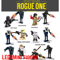 action figure bags - Star Wars Rogue One MIni action figure Building Blocks toys plastic dolls legosets Chirrut Imwe Baze Malbus TX20 K SO opp bag