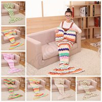 baby room prints - Mermaid Blankets Butterfly Pillow Set Baby Mermaid Tail Blanket Kids Sleep Bags Nap Sofa Blankets Bedding Living Room Bedroom Blanket OOA974