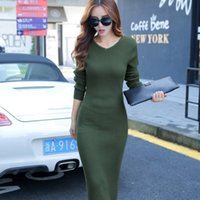 ankle length hair - Gold Hands Europe Winter New Style Knitted Sweater Slim Dress One Step Skirt Rabbit Hair Four Color Options Free Sizes