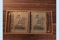 Wholesale Kawaii Notebook Totoro Cute Wood Cover Agenda Creative Stationery Vintage Korean Diary Gift School Papelaria