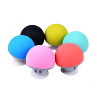 Wholesale Bluetooth Speaker MINI Portable Kawaii Mushroom Audio MP3 Player Speakers For iPhone Samsung Holder Stand Sucker Blue tooth Subwoofers