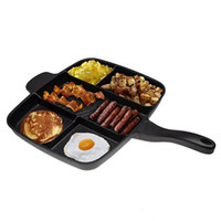 Wholesale 2017 New Magic Pan Fryer Pan Non Stick in Fry Pan Divided Grill Fry Oven Meal Skillet quot Black