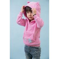 Wholesale Blazer children s spring new sweater single girls jacket T zone children with caps leisure pullovers