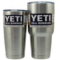 Wholesale 20 oz Stainless Steel Yeti Colster Tumbler Yeti Coolers Rambler Colster YETI Cups Cars Beer Mug Insulated Koozie