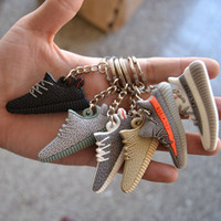 Wholesale New D Kanye West Multicolor Sneaker Silicon Keychain Ring Mini Shoes Unisex Wallet Car Package Key Decorative Chain