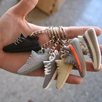 Wholesale New D Unisex Kanye West Multicolor Sneaker Silicon Keychain Ring Mini Shoes Unisex Wallet Car Package Key Decorative Chain