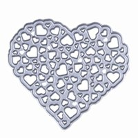Wholesale 1Pcs Metal Cutting Dies Hollow Out Heart Stencil Embossing For DIY Scrapbooking Paper Card Album Photo Craft Art Painting Decor