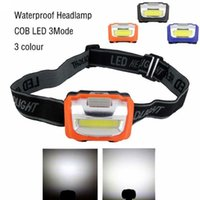 Wholesale Mini Modes Waterproof Lm LED Flashlight outdoors Headlight Headlamp head light lamp Torch Lanterna with Headband
