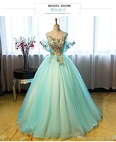 belle ice - 100 real photo luxury light dream ice blue flower embroidery beading butterfly sleee ball gown medieval dress victoria belle ball
