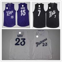 Wholesale 2017 the latest edition of the shirts Christmas version DeMarcus Cousins Anthony Davis Jeremy Lin embroidery shirt