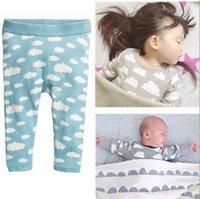 baby pajama patterns - 2016 autumn winter clouds kids clothing sets CLOUDS pattern cartoon children clothing sets pajama sets t baby girls clothes