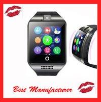 all'ingrosso wireless camera watch-Bluetooth SmartWatch Q18 wireless intelligente braccialetto NFC fotocamera a distanza SIM Passometer per iOS / Android di Samsung HTC LG orologi intelligenti