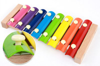 Wholesale DHL Learning Toy Scales Xylophone For Baby Kid Music Instrument Early Educational Toy High Quality Baby Safe
