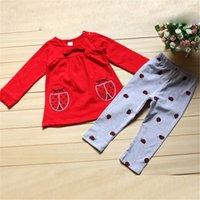 beetle shirt - Infants Kids Baby Boy Girl Clothes Set Costume Long Sleeve Shirts Beetle Pants Cartoon Clothing Outfits