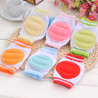 Wholesale 1Pair Baby Kneepad Cozy Cotton Breathable Sponge Children Knee Pads Learn To Walk Best Protection Crawling Leggings Pad for baby