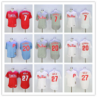Wholesale Philadelphia Phillies Jersey Maikel Franco Mike Schmidt Aaron Nola Flexbase Coolbase Throwback Stitched Baseball Jerseys