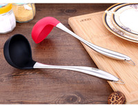 Wholesale Cookware Silicone Spoon Rest Heat Kitchen Cooking Tools Colorful Soup Spoon Kitchenware Kitchen Tool