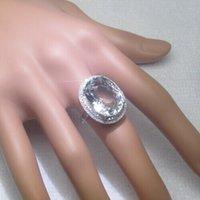 Livraison gratuite Sol 14K blanc or véritable diamant Aquamarine Sparkly naturel diamant très agréable (R0132)
