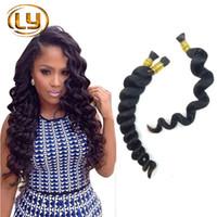 Wholesale 7A Grade Human Hair For mini Braiding Hair No Attachment Buy Get Free Brazilian Hair Loose Wave Human Hair Bulk