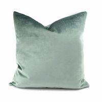 Woven aqua pillow covers - OME Luxury light Green Aqua Green Velvet Cushion Cover Pillow Case Lumber Pillow Case