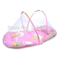 Wholesale Portable Baby Bed Crib Folding Mosquito Net Bed Infant Cushion Mattress Pillow baby cot happy beds cribs cm